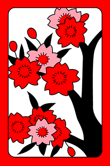 Март, Вишня (сакура), 桜, sakura - простая, 1 очко