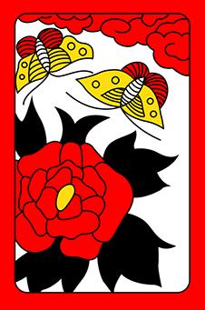 Июнь, Пион, 牡丹, botan - животное: бабочка, 10 очков