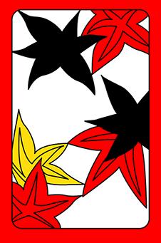 Октябрь, Клён, 紅葉, momiji - простая, 1 очко