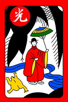 Ноябрь, Ива, 柳, yanagi - «яркая» карта: «человек дождя» с зонтом, 20 очков